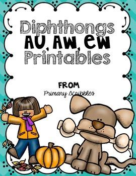 Diphthongs AU, AW, EW Printables