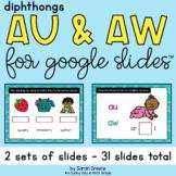 Diphthongs AU & AW for Google Slides™