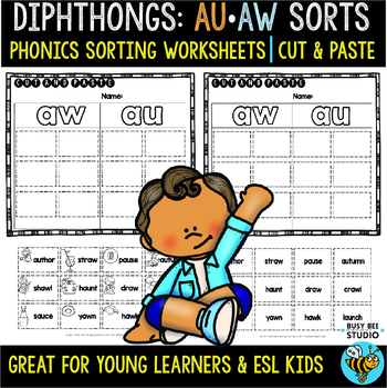 Aw And Au Worksheets Teachers Pay Teachers