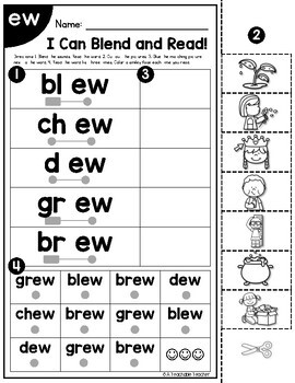 Diphthongs Worksheets | Blending & Reading Words with Diphthongs