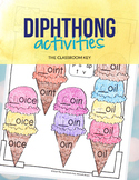 Diphthongs Activities & Worksheets, aw, au, ow, ou, oi, oy, oo 2nd Grade Phonics