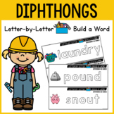 Diphthongs Activities with Magnetic Letters - WORD BUILDING MATS