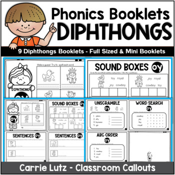 Diphthongs Activity Booklets