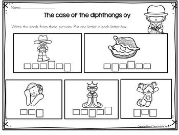 Diphthongs - Activity Pack