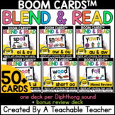 Diphthongs Boom Cards | Blend and Read Diphthongs Activities