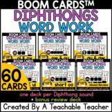 Diphthongs™ Boom Cards | Diphthongs Word Work Digital Activities