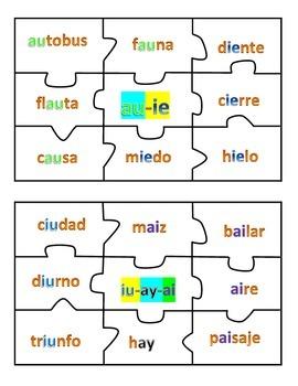 Diphthongs - Centro de Diptongos + ay, ey, oy, uy - Spanish