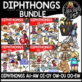 Diphthongs Clip Art Mega Bundle {Educlips Clipart}
