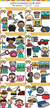 Diphthongs Clip Art Bundle