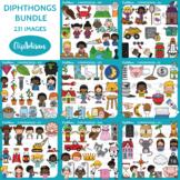 Diphthongs Clip Art Growing Bundle