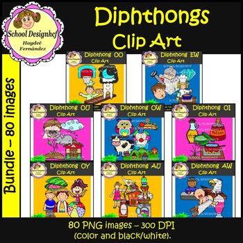 Diphthongs Clip Art Mega Bundle - English (School Designhcf)