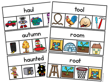 Diphthongs Clip Cards