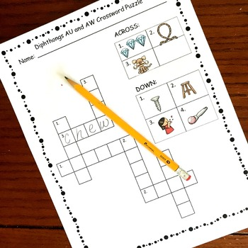 Diphthongs Crossword and Word Searches