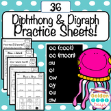 Diphthongs 36 Printables! Includes Word Sorts and Making Words!