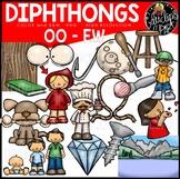 Diphthongs EW-OO Clip Art Bundle {Educlips Clipart}