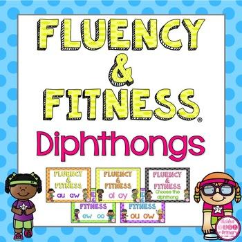 Diphthongs Fluency & Fitness Brain Breaks Bundle