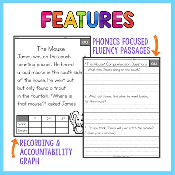 Diphthongs Fluency Passages | Diphthongs Activities