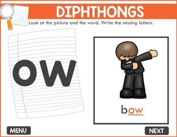 Diphthongs Game -  Phonics Game for Smartboards & Whiteboards