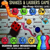 Diphthongs Game: Snakes and Ladders (ow-ou, aw-au, oo-oo, oi-oy)