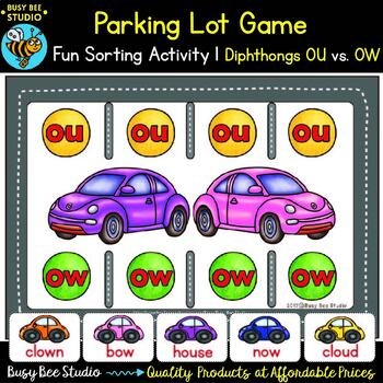 Diphthongs Games Bundle: Parking Lot
