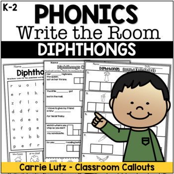 Diphthongs WRITE the ROOM (With Extension Activities)