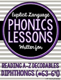 Diphthongs Lessons for Reading A-Z Decodable Books #63-64