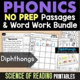 Diphthong Worksheets: Phonics Worksheets for Reading Centers or Morning Work