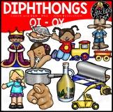 Diphthongs OI-OY Clip Art Bundle {Educlips Clipart}