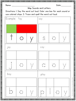 Diphthongs OI and OY Phonics Activities Multisensory to Support Orton-Gillingham