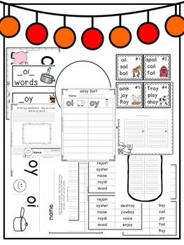 First Grade Phonics: Diphthongs OI and OY