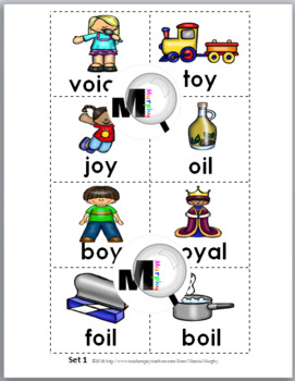 Vowel Diphthongs OI & OY Sorting, Printables, & Posters