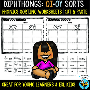 Diphthongs -OI- and -OY- Sorts | Cut and Paste Worksheets