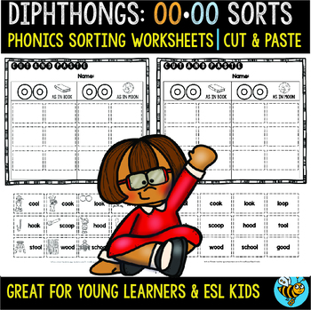 Vowel Diphthongs Sorts   Cut and Paste Worksheets