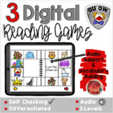 Diphthongs OU OW:  Digital Reading Activities - Distance L
