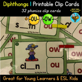 Diphthongs -OU- and -OW- Clip Cards