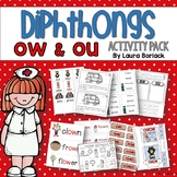 Diphthongs OW and OU Activity Pack