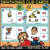 Diphthongs -OY- and -OI- Clip Cards