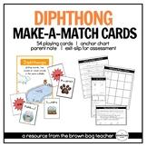 Diphthongs: Phonics Make-a-Match Cards