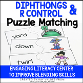 Diphthongs & R Control Puzzle Matching Literacy Center
