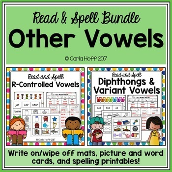 Diphthongs, R-Controlled & Variant Vowels Bundle - Read & Spell