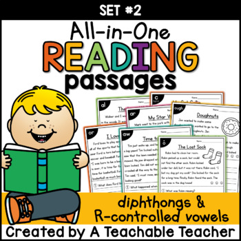 Diphthongs & R-Controlled Vowels ~ All-in-One Set TWO