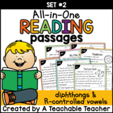 Diphthongs & R-Controlled Vowels Reading Passages ~ All-in-One Set TWO