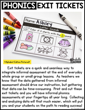 Diphthongs & R-Controlled Vowels Exit Tickets
