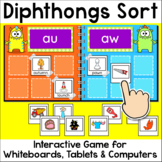 Diphthongs Sorting Game for Whiteboards and Computers - 10 Seasonal Themes
