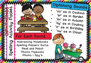 Diphthongs - Spelling Activity Complete Packet