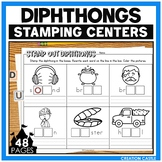 Diphthongs Worksheets for Stamping Center