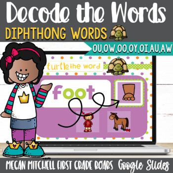 Diphthongs Turtle out the Words using Google Slides