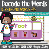 Decoding Diphthongs OU OW OO OY OI AU AW Google Slides Distance Learning