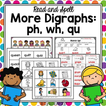Digraphs ph, wh, qu - Read & Spell!