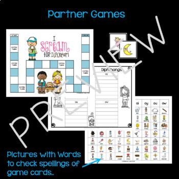 Diphthongs & Variant Vowels Sorts & Games